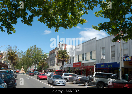 Victora Avenue in the town centre of Wanganui, North Island, New Zealand - Stock Photo