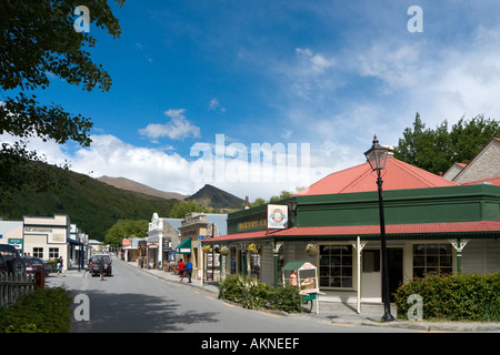 Main Street in the historic old gold mining town of Arrowtown, near Queenstown, South Island, New Zealand - Stock Photo
