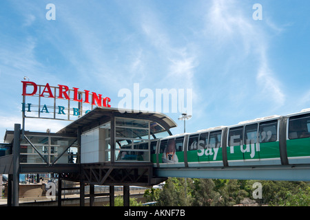 Monorail, Darling Harbour, Sydney, New South Wales, Australia - Stock Photo