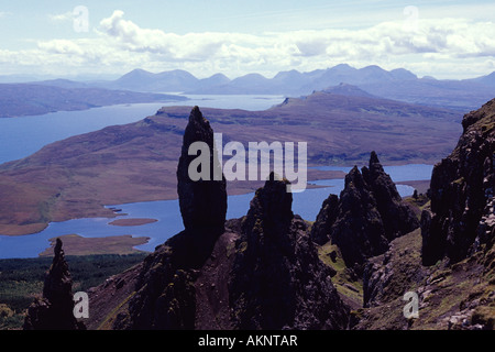The Old Man of Storr isle of skye scotland uk gb - Stock Photo