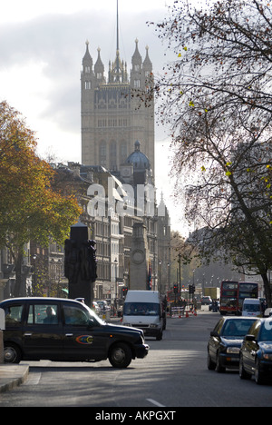 whitehall towards westminster, london, england - Stock Photo
