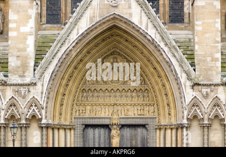 Architectural detail at Westminster Abbey in central London - Stock Photo