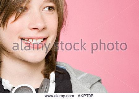 Portrait of a teenage boy - Stock Photo