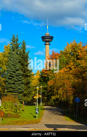 Näsineula observation tower central Tampere Finland EU - Stock Photo