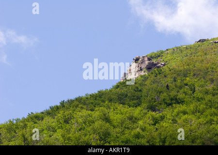The Old Man of the Mountain, New Hampshire - Stock Photo
