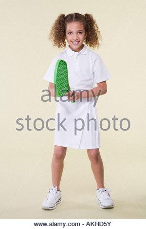 Girl tennis player - Stock Photo