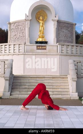 carol smith yoga teacher doing surya namaskar sun