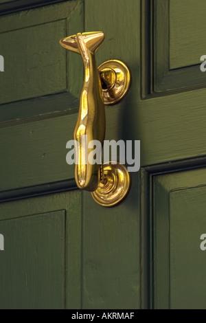 Brass Door Knocker On Beacon Hill House Boston