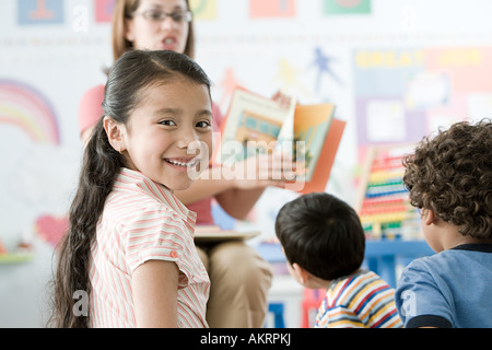 Children in a lesson - Stock Photo