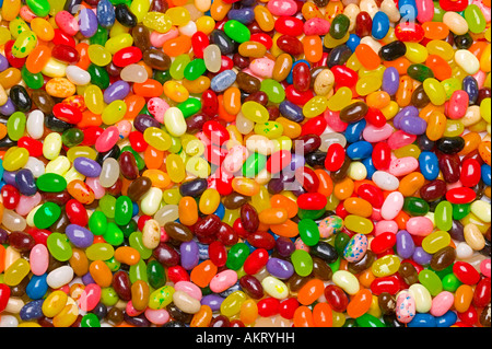A large colorful assortment jelly bean background - Stock Photo