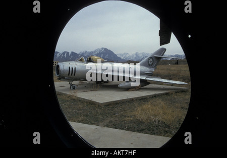 Mig 17 fighter Soviet museum West Kabul Afghanistan - Stock Photo