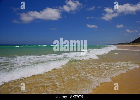 close up of sea & sand at Noosa beach Australia - Stock Photo