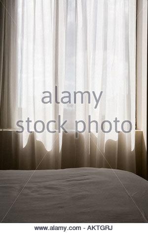 Empty Abandoned Room; Hotel Room   Stock Photo