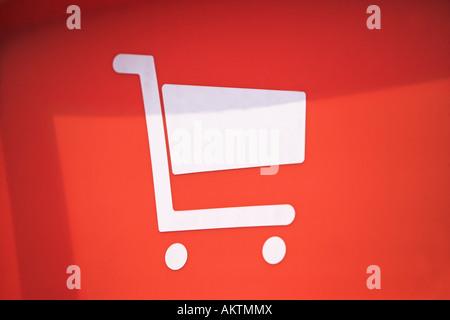 Shopping trolley icon - Stock Photo