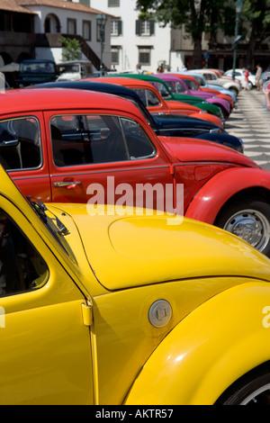Volkswagen car meet (Clube Carocha da Madeira), Praca do Municipio (Main Square), Funchal, Madeira, Portugal - Stock Photo
