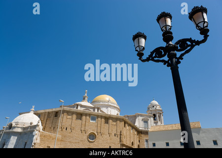 Cathedral from the rear, Old Town, Cadiz, Andalucia, Spain - Stock Photo