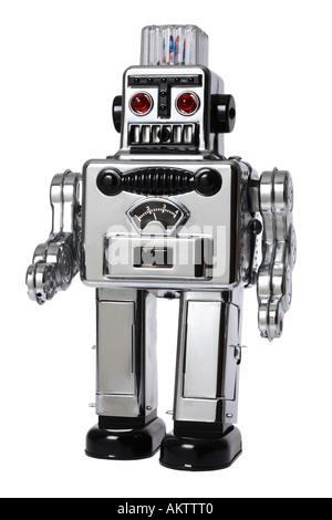 Retro Walking Robot - Stock Photo