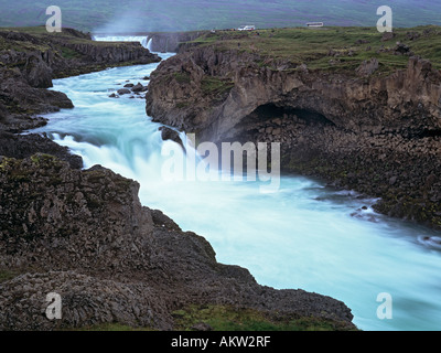 Godafoss Iceland GODAFOSS WATERFALL or 'fall of the gods' on Skjalfandafljot river - Stock Photo