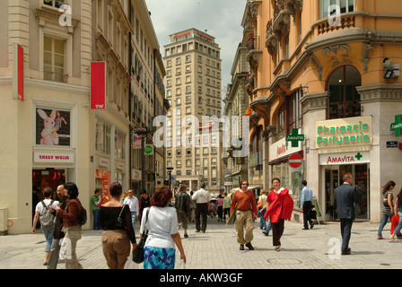 Lausanne. Tour Bel-Air. Streetlife. City. Old Town. - Stock Photo