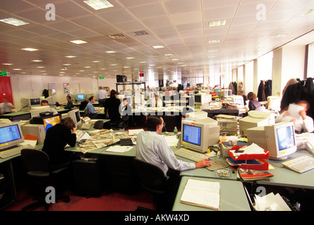 inside the Daily Mirror newspaper editorial offices - Stock Photo
