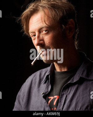 Portrait of DBC Pierre writer author Vernon God Little Peter Warren Finlay Ludmila s Broken English Australian Mexican - Stock Photo
