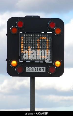 Motorway information sign on the M1 Motorway England - Stock Photo