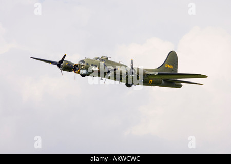 the famous Sally B B-17 Bomber at Rougham airshow August 2006 in Suffolk, UK - Stock Photo