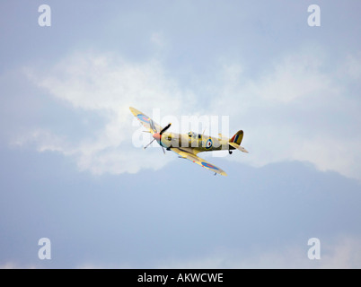 Spitfire fighter aircraft at Rougham airshow August 2006 in Suffolk, UK - Stock Photo