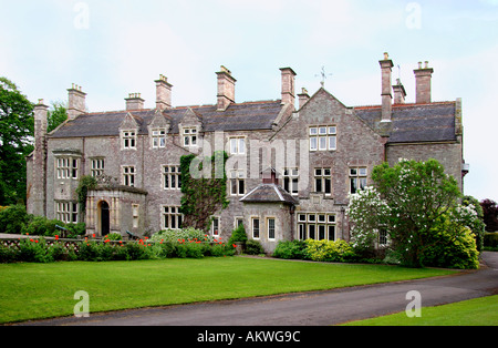 Cefntilla County House Home of Lord Raglan Monmouthshire South East Wales - Stock Photo