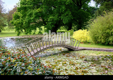 Lake Cefntilla County House Home of Lord Raglan Monmouthshire South East Wales - Stock Photo