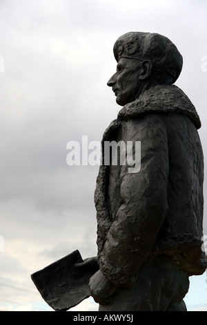 A statue of Field Marshal Montgomery near Juno Beach in Normandy, France - Stock Photo