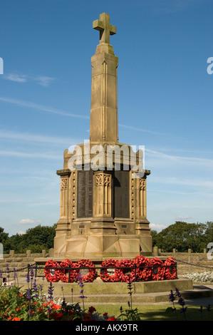 War Memorial in Castle grounds Knaresborough North Yorkshire England UK United Kingdom GB Great Britain