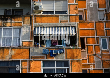 Apartments in Tirana, capital city of Albania - Stock Photo