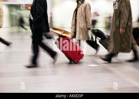 Businessmen with suitcase - Stock Photo