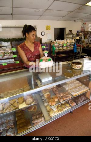 Hawaii Molokai island Pacific USA travel tourism bakery town - Stock Photo