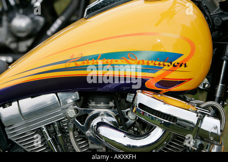 Harley Davidson, Gasolinetank, detail. - Stock Photo