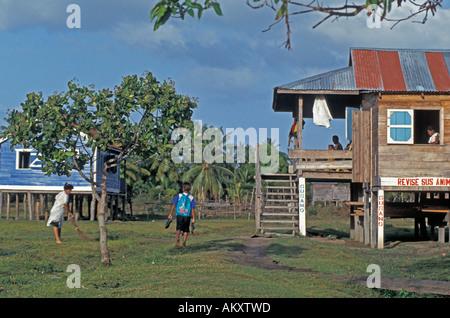 Nicaragua Miskito Coast village - Stock Photo