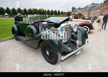Lagonda LG 45, GB, vintage car meeting, Schwetzingen, Baden-Wuerttemberg, Germany - Stock Photo