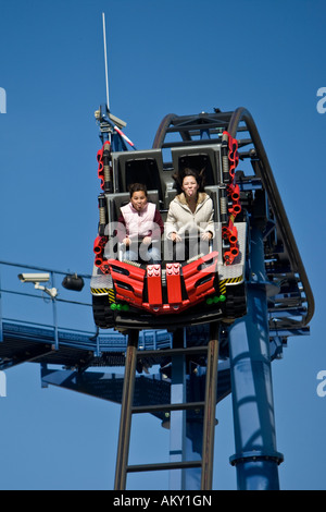 Rollercoaster, Legoland, Guenzburg, Bavaria, Germany - Stock Photo