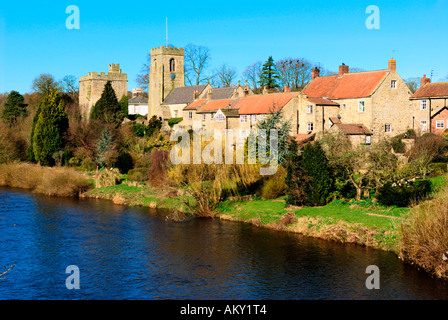 West Tanfield, North Yorkshire - Stock Photo