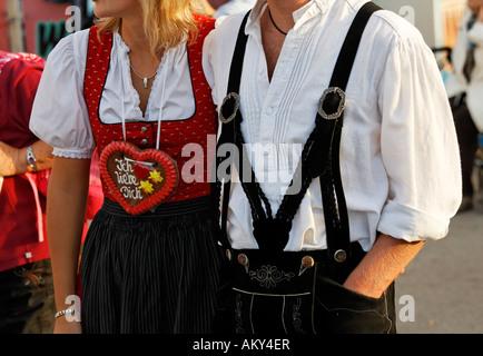 Oktoberfest, Munich beer festival, Bavaria, Germany - Stock Photo