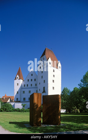 Neues Schloss (New Castle) in Ingolstadt, Bavaria, Germany - Stock Photo