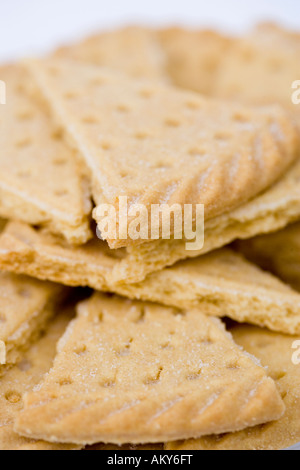 Traditional scottish shortbread 'Petticoat Tails' - Stock Photo