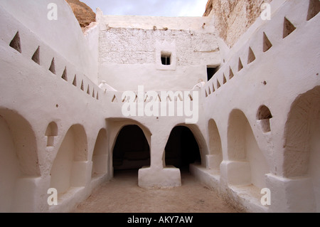 Patio in the old town of Ghadames, UNESCO world heritage, Libya - Stock Photo