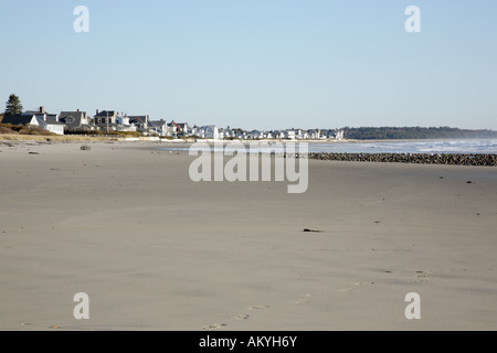 Drakes Island Beach during the autumn months Located in Wells Maine USA which is part of New England - Stock Photo