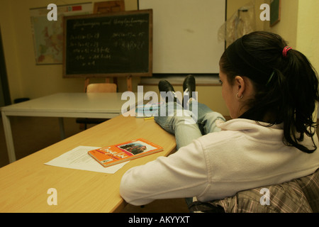 A fifteen year old truant - Stock Photo