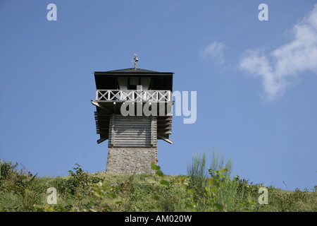 The Limes-Tower near Azbach counts to the World Heritage Sites, Rhineland-Palatinate, Germany Europe - Stock Photo