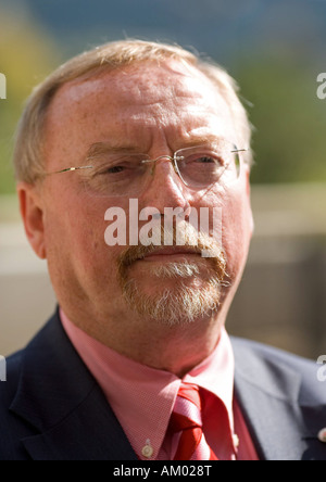 Prof. Dr. Siegfried Englert, Under-Secretary of State in the ministry economy winegrowing and agriculture of rhineland - Stock Photo