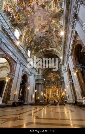 The church St Ignatius of Loyola in Rome