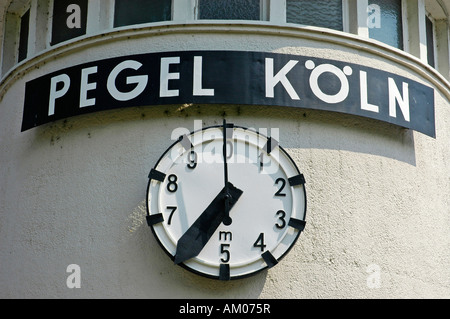 Water gauge watch, Cologne, North Rhine-Westphalia, Germany - Stock Photo